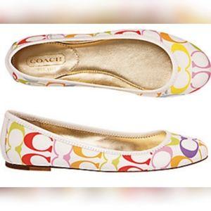 💜Coach💜 Larra Multicolor Flats